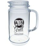 Logo Branded 32 Oz. Mason Jar Pitcher