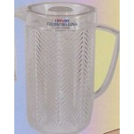 Custom Printed Plastic Covered Chevron Pitcher w/ Cover (80 Oz)