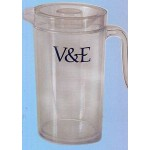 Custom Branded Insulated Plastic Double Wall Pitcher w/ Cover