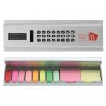 Solar Calculator Ruler w/Sticky Notes Custom Imprinted