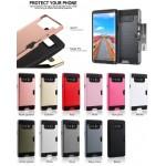 iBank(R) Samsung Galaxy Note 8 Shockproof Case with Credit Card Slot (Black) Custom Printed