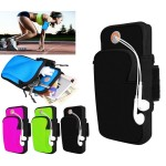 iBank Sports Running Arm Band Bag Case for Smartphones (Black) Logo Branded