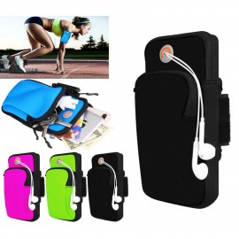 iBank Sports Running Arm Band Bag Case for Smartphones (Black) Logo Branded
