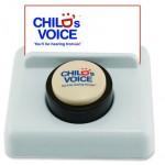 Custom Imprinted White Micro Sound Desk Button Business Card Holder