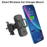 Auto Clamping Wireless Car Charger Mount Smart Wireless Car Mounted Charger Logo Branded