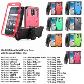 Logo Branded iBank Galaxy Hard Case with Belt Clip and a kickstand (Red)