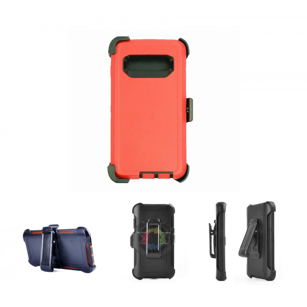 Custom Printed iBank Galaxy Note 9 Shockproof Case with Belt Clip and a kickstand (Red)