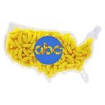 Logo Printed Plastic USA Shape Container