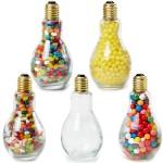Promotional Jumbo Light Bulb Shape Jar w/ Lemon Heads