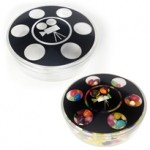 Plastic Movie Reel Shape Container Logo Printed