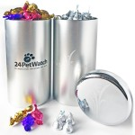 Promotional Big Canister Tin Filled w/ Hard Candy 2.5 Lbs.
