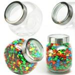 Custom Branded Desktop Jar Large See Thru Lid w/ Fillings