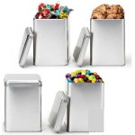 Promotional Small Square Canister Tin Box w/ Jelly Beans