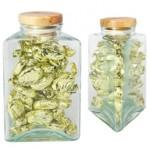 Triangle Glass Jar Small w/Hard Candy Custom Branded