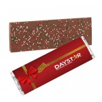 Foil Wrapped Belgian Chocolate Bar w/ Holiday Nonpareil Sprinkles Logo Printed