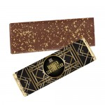Foil Wrapped Belgian Chocolate Bar w/ 23K Gold Flake Topping Custom Branded