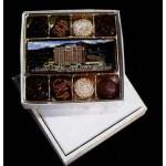 1/2 9 Piece Box w/Photo Chocolate Center Candy Logo Printed