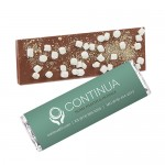 Foil Wrapped Belgian Chocolate Bar w/ Smores Topping Logo Printed