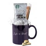 Promotional Starbucks Coffee & Biscotti Mug (Blue)