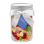 12 Oz. Glass Mason Jar w/ Assorted Jelly Beans Custom Printed