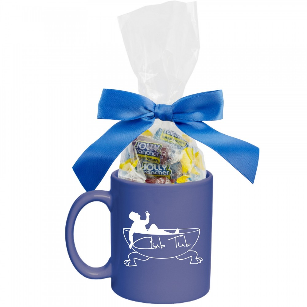 Logo Branded Ceramic Mug With Jolly Ranchers