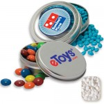 Circular Window Tin- Mini Mints Candy by Color Custom Printed