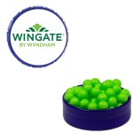 Small Royal Blue Snap-Top Mint Tin Filled w/ Colored Candy Logo Branded