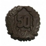 Custom Imprinted 0.72 Oz. Chocolate 50th Anniversary Medium W/Crest