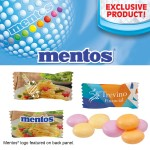 Individually Wrapped Assorted Mentos Fruit Logo Branded
