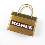Logo Branded Gold Pink Shopping Bag Mint Tin