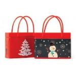 Custom Imprinted Red Shopping Bag Mint Tin