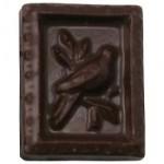 0.4 Oz. Chocolate Stamp Bird In Tree Custom Imprinted
