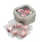 Window Tin w/Starlight Peppermints Custom Imprinted