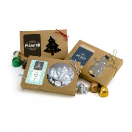Window Holiday Present Box Custom Printed