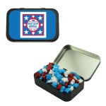 Custom Imprinted Large Black Mint Tin w/ Candy Stars