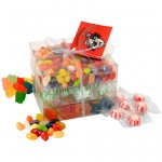 Logo Branded Candy Covered Large 3 Way Stack Acetate Tower w/Ribbon & Hang Tag
