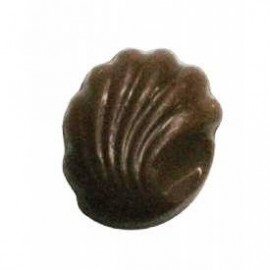 Custom Imprinted 0.24 Oz. Chocolate Candy Shell W/Scallop