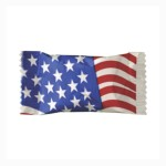 Soft Peppermints in a Flag Wrapper Custom Printed