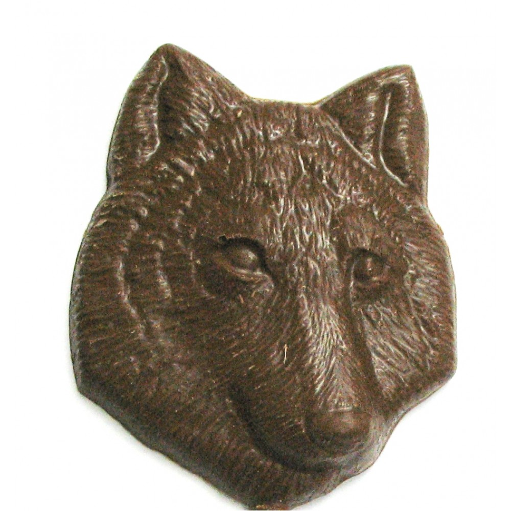 Logo Branded 1.28 Oz. Chocolate Wolf Head