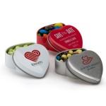 Logo Branded Small Heart Shaped Tin