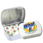 Custom Imprinted Domed Tin - Imprinted Square Mints
