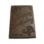 8.80 Oz. Chocolate Happy Birthday XLG Bar Custom Imprinted