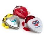 Large Heart Shaped Tin Custom Imprinted