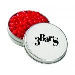 Medium Round Tin - Red Hots Logo Branded