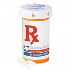 Large Pill Bottle - White Mints Custom Printed