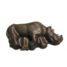 0.80 Oz. Chocolate Rhinocerous Logo Branded