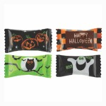 Custom Imprinted Pink Buttermints Cool Creamy Mint in a Halloween Wrapper