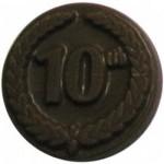 Custom Imprinted 0.32 Oz. Chocolate 10th Anniversary Round W/Crest