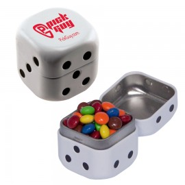 Custom Imprinted Dice Mint Tin w/ Chocolate Littles
