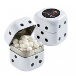 Dice Tin with White Mints (1.4 oz) Custom Printed